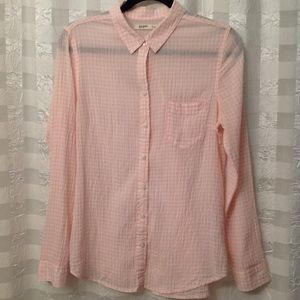 Old Navy Pink Gingham Blouse Size M